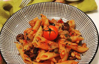 One pot pasta thon tomate et champignons