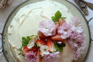 Layer Cake  aux fraises #anniversaire