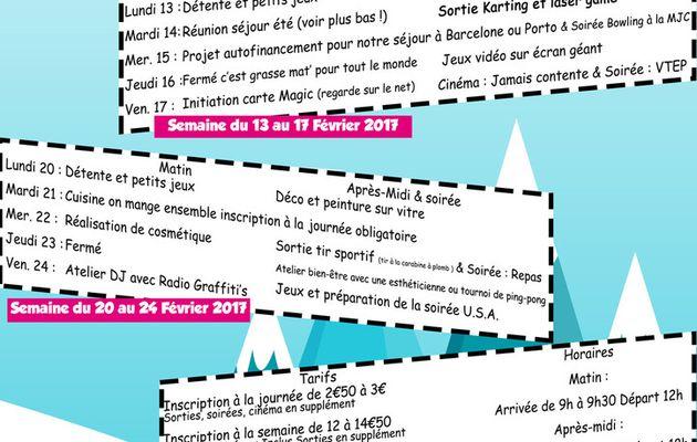 ACCUEIL ADOS : PROGRAMME DES VACANCES D'HIVER