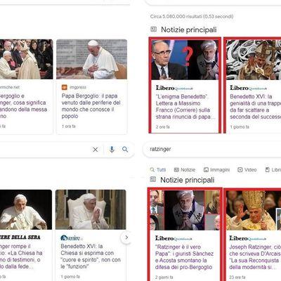 Lettre au rédacteur en chef de Il Foglio, Claudio Cerasa : il y a une certaine question sur le pape Ratzinger...