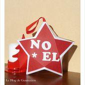 Le Blog de GENMANOU: Etoile de Noël et gabarit.