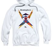 Hemisphere N. Text Adult Pull-Over Hoodie for Sale by Michael Bellon