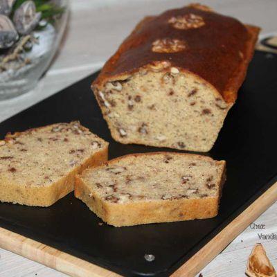 Cake poires noix et cannelle