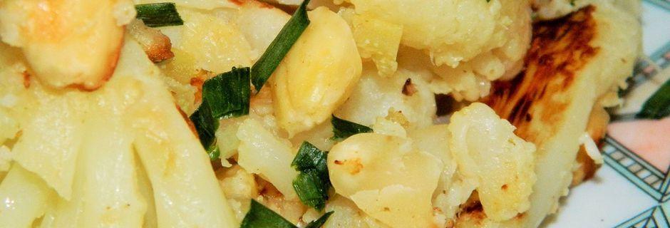 Chou Fleur aux Amandes et Citron Confit au sel
