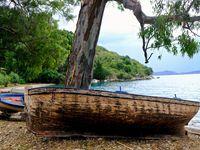 """Le petit port de Kouloura, tout petit, mais un endroit où le se sent bien, toujours dans une certaine intimité....""""le silence parle à ceux qui savent écouter"""" a dit Christine ORBAN."""