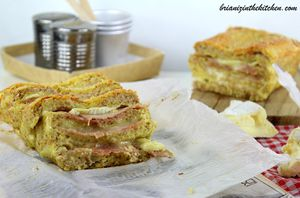 Croque-Cake {Made in Normandy} Jambon & Camembert