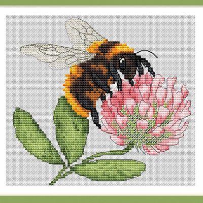 Grille abeille, fleur des champs