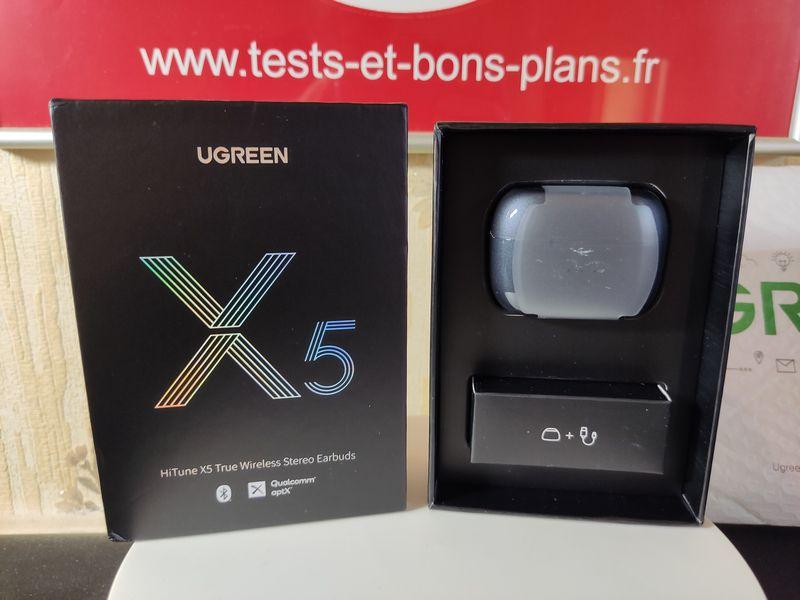 unboxing des écouteurs True Wireless UGREEN HiTune X5 @ Tests et Bons Plans