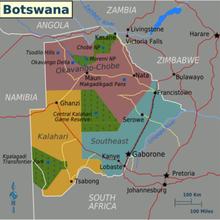 Hãng vận chuyển gửi hàng tới Botswana chi phí thấp