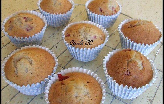 Recette des cupcakes à la fraise....