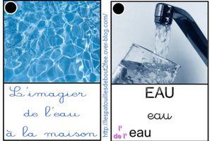 L'imagier de l'eau à la maison