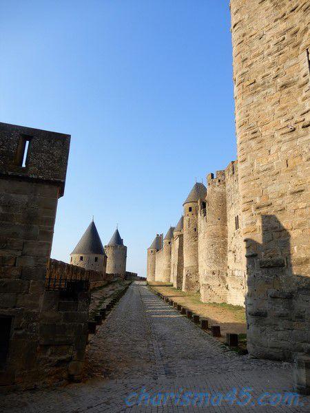 Carcassonne, canal du midi en camping-car