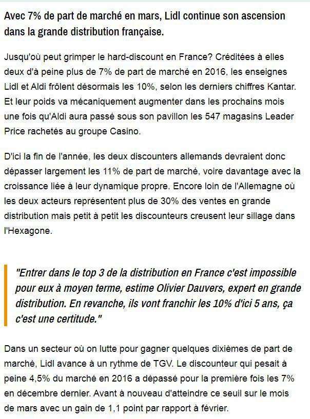 Dans les médias (236) : BFM Business : Lidl, Aldi, le discount en France peut-il devenir aussi gros qu'en Allemagne ?