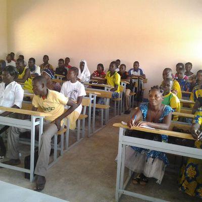 Une salle de cours du Lycée