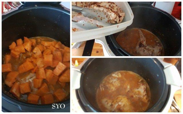 Lapin, patate douce au Cookeo du Petit Bistro