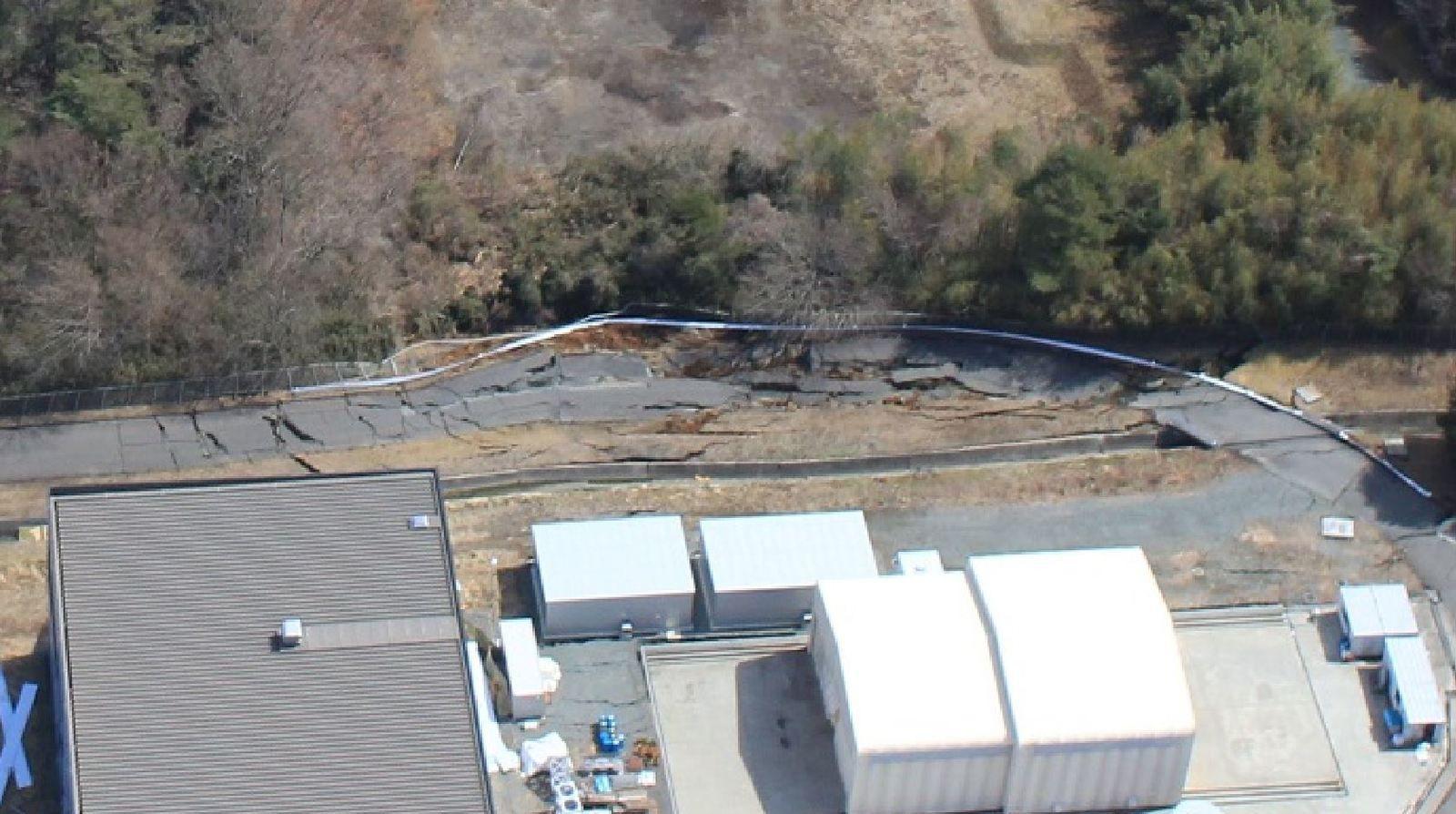 Un effondrement de terrain dû au séisme