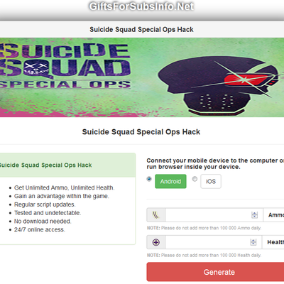 Suicide Squad Special Ops Hack Cheats Trucchi