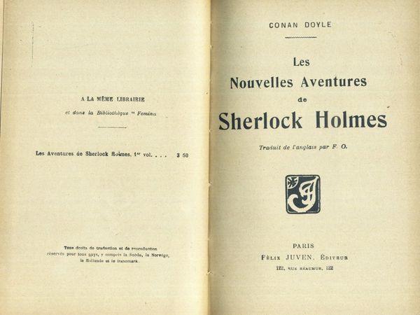 Conan Doyle, Sherlock Holmes, les nouvelles en volumes chez Félix Juven