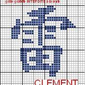 grilles gratuites : caligraphie chinoise : Clément et Marc - Le blog de 7 à la maison, point de croix, tricot, grilles gratuites...