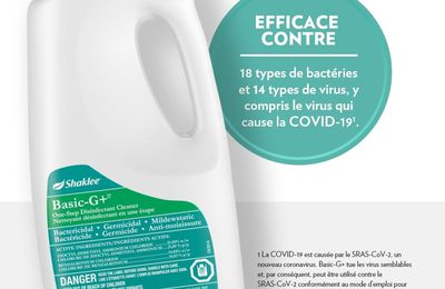 Basic G from Shaklee Covid-19 anti-bactericide cleaner.
