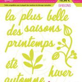 FDSDL012 : LOT DE 11 DIES SAISONS Fée du Scrap