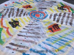 Voici en retour, une activité plus calme et créative, proposé par Alice de l'association l'école de Preeti, la réalisation d'un mandala avec les enfants