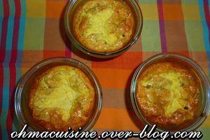 Clafoutis petits pois, jambon et Boursin
