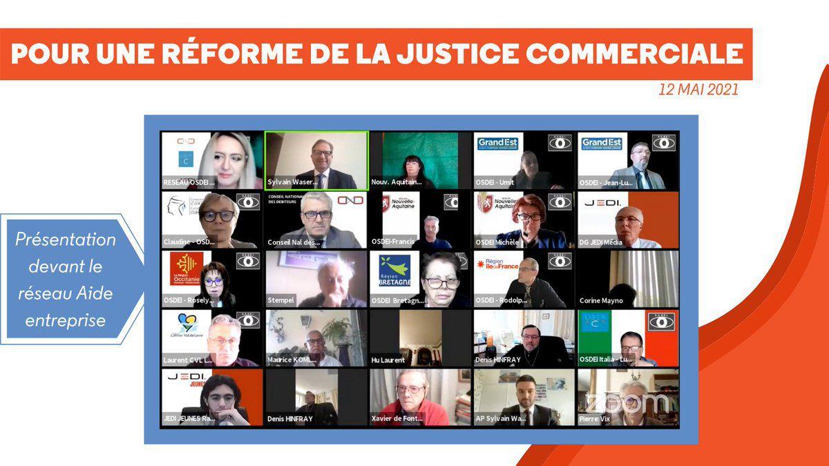 #Sylvain  #Waserman pour la #Réforme de la #Justice #Commerciale