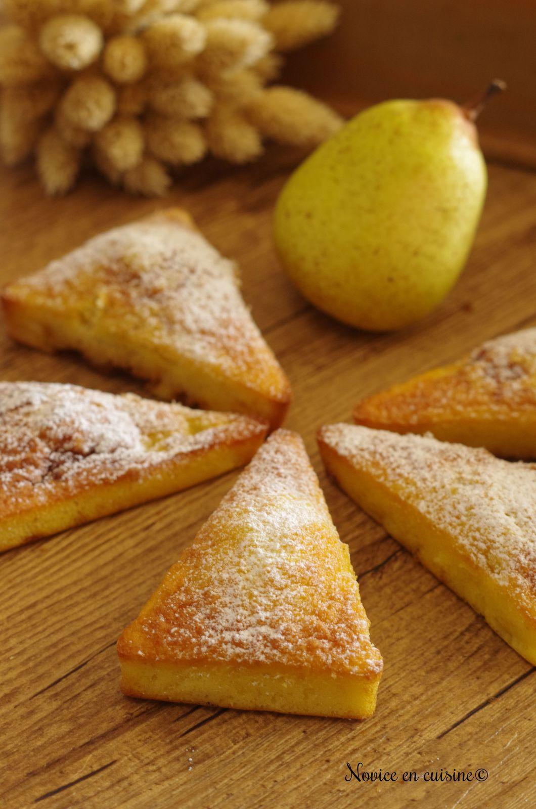 Triangles poires et caramel beurre salé