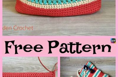 10 Pretty Crocheted Tote Bags - Free Patterns #freecrochetpatterns #bag #totebag