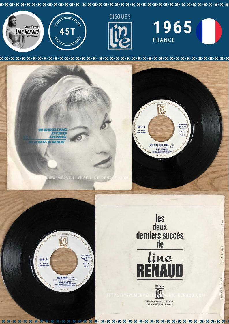 45 TOURS: 1965 Disque Line - SLR4 - Line Renaud