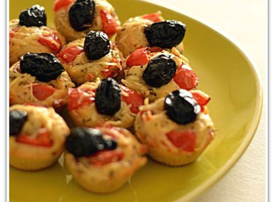Mini muffins façon pizza