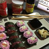 Recette : maki rose au saumon - Les Gralettes