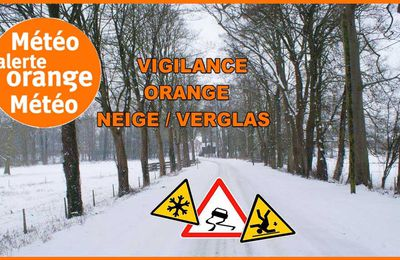 Alerte orange: Neige-Verglas