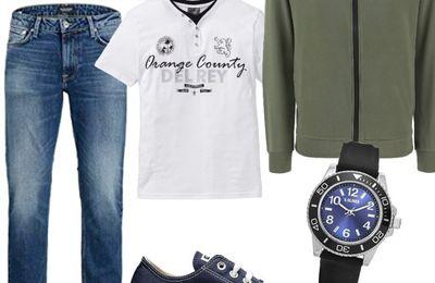 Mode tendances, looks complets pour hommes.