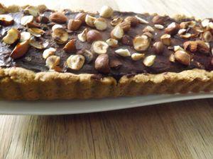 Tarte au chocolat noir et aux fruits secs...IG bas     * Fiberpasta*