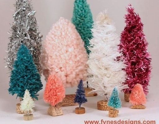 Faire de petits sapins de Noël en laine