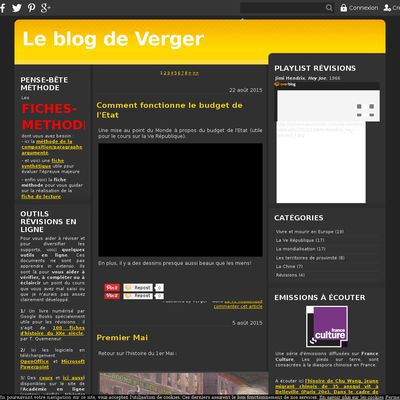 Le blog de Verger