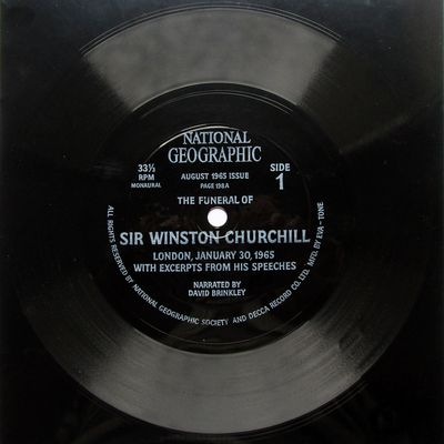 The Funeral of Sir Winston Churchill with excerpts from his speeches - Narrated by David Brinkley - 1965