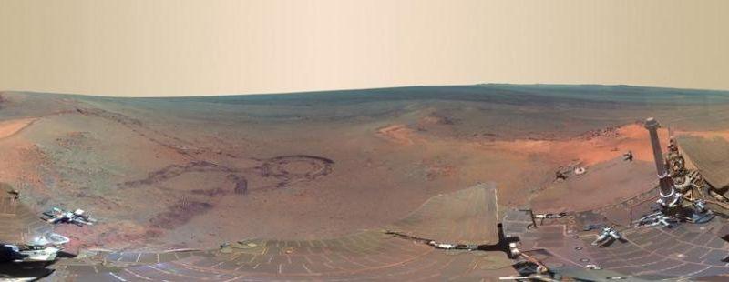 Superbe photo panoramique de Mars.