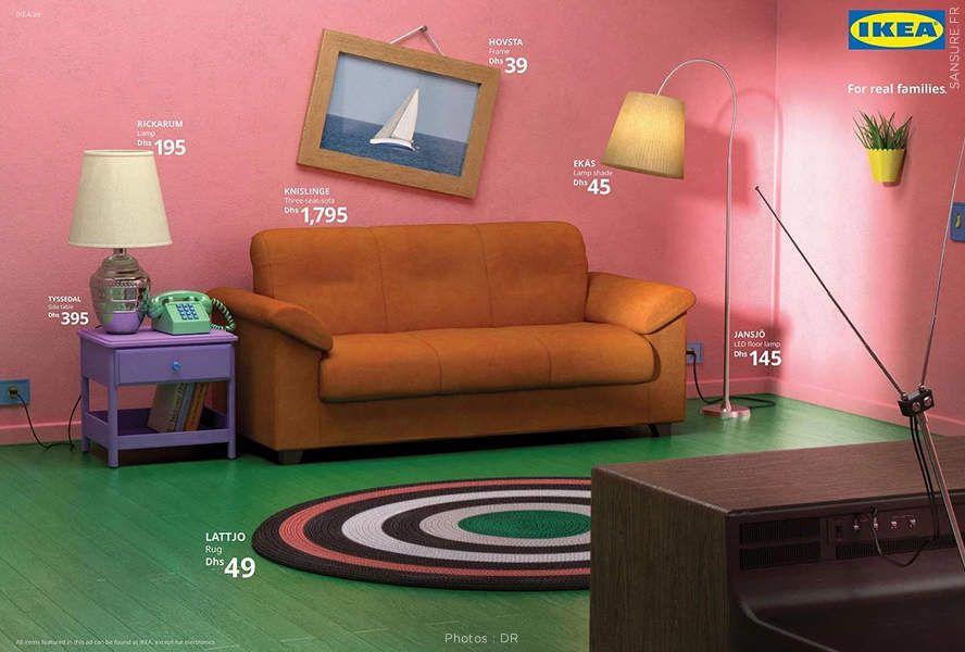 IKEA recrée les salons de 3 séries culte ! (diaporama) #IKEA