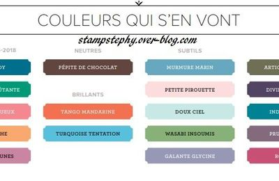 Refonte des couleurs Stampin'up !