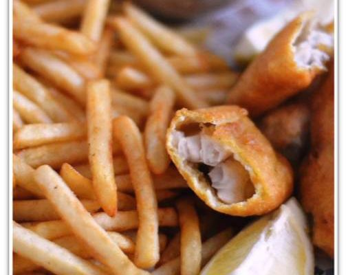 Fish and chips et sa sauce au yaourt