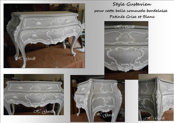 Commode galbée Style Gustavien