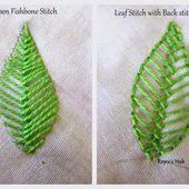 Embroidery Stitches For Leaves : Fishbone Stitch and Variations - 2
