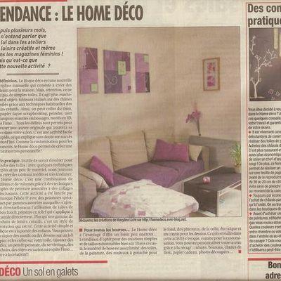 Un article dans France Soir aujourd'hui