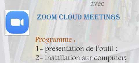 Etudier en ligne avec mon prof 1: présentation de Zoom Cloud meetings