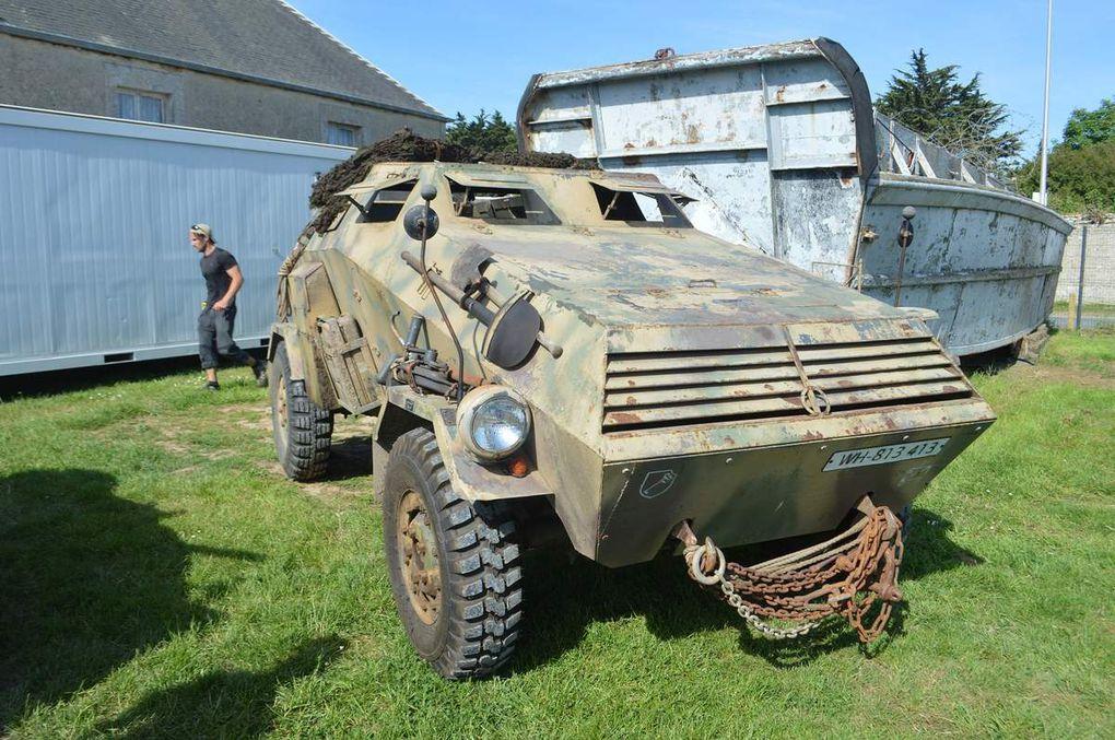 crédit photos alain Chaussade :l'arrivée à Vierville Museé OMAHA D.Day et véhicules vus sur place