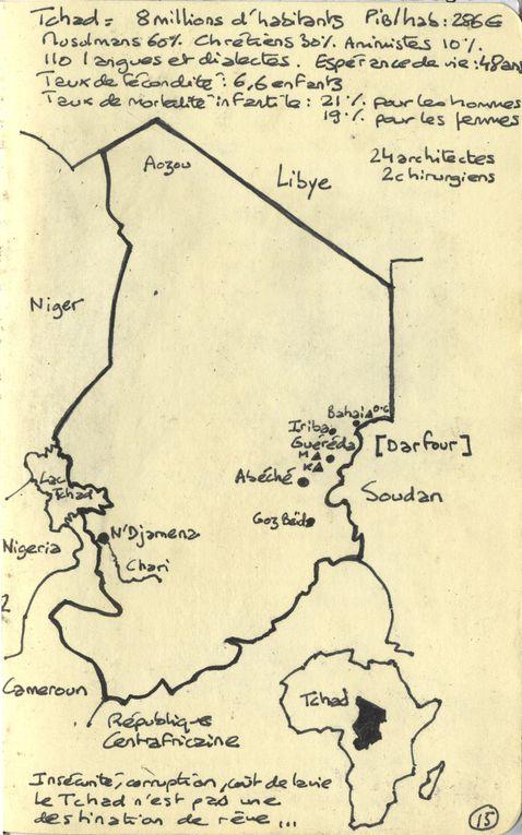 histoire du séjour de H au Darfour avec Architectes de l'Urgence