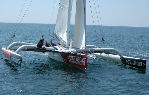 Innovation technologique pour le trimaran Ocean Addict sur le Record SNSM